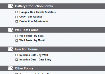 Production Gauging Forms